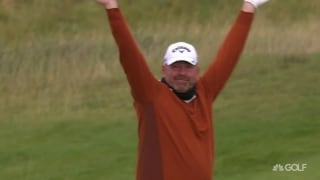 Splash! Bjorn birdies from bunker on No. 9