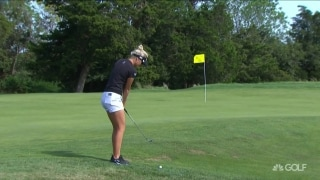 Nordqvist nearly whiffs it, Lewis lips out on No. 15