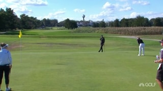 H. Green finds the range, drains long birdie putt on No. 2