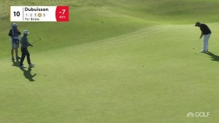 Dubuisson drops a long birdie on par-5 10th
