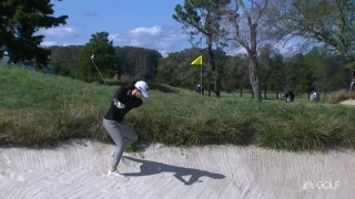 Song saves par after 'ridiculous' bunker shot on No. 7