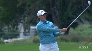 Kupcho battles back with back-to-back birdies