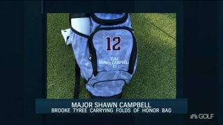 Texas A&M's Brooke Tyree carrying 'Folds of Honor Bag'