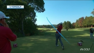 On a rope: Alabama's Furr pounds it off tee on No. 14