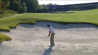 Goff hits teammate's ball on No. 18, makes triple bogey