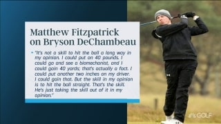 Fitzpatrick speaks out: DeChambeau 'taking the skill out of it'
