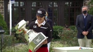 To the winner goes the spoils: Kim collects major trophy