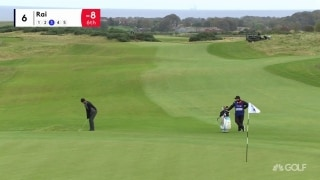 Rai drops his second eagle of the day on par-5 sixth