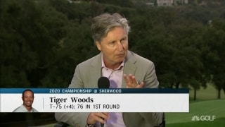 Chamblee: Tiger struggled by 'popping up and out of iron shots'