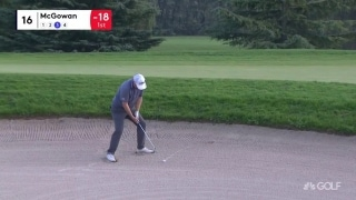 Shot of the tournament: McGowan's clutch bunker hole-out