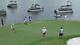 McDonald sinks long downhiller for birdie on No. 11