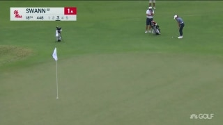 Ole Miss' Kennedy Swann eagles on 18 to close out match