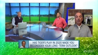 Has Tiger's recent play made you reconsider his long-term outlook?