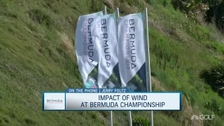 Impact of wind at Bermuda Championship