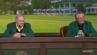 Nicklaus, Player hold court on Thursday morning in Augusta