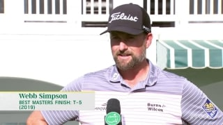 Simpson (67): 'More comfortable than ever' at Augusta