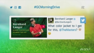 Langer becomes oldest player to make cut at the Masters