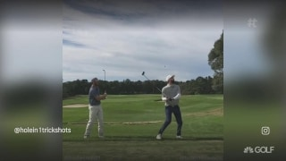 Trick shot of the week: Lob over to driver