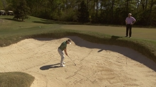 Langer's secrets for high, soft bunker shots