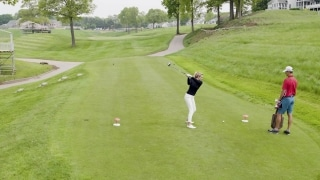 Coming down the stretch: Playing 18 at TPC River Highlands