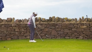 Players attempt shots 'off the wall' at Ladies Scottish Open