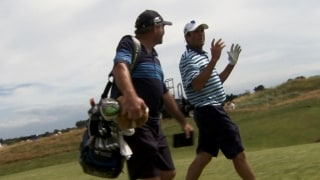 Go inside the ropes with Andrade and longtime caddie Zyons
