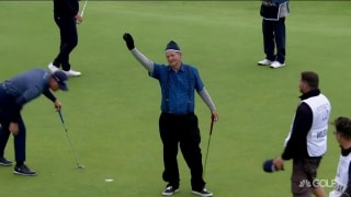 Well done, Bill! Murray pars 18 at St. Andrews