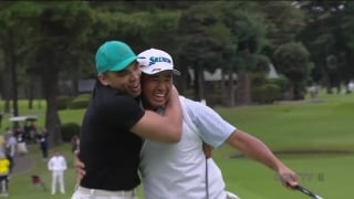 He's my partner! Matsuyama birdies No. 7