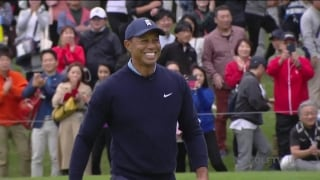 Up-and-down par at No. 5 gives Tiger two skins and $20,000