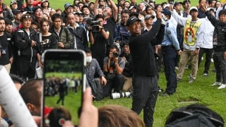 Best thing I saw: Crowds following Tiger in Japan