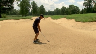 Mediate's method for fairway bunker play