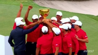 Highlights: U.S. wins Presidents Cup with big Sunday charge