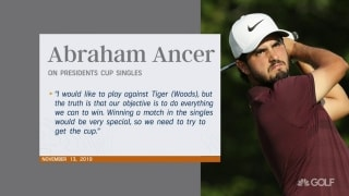 Ancer's wish to play Tiger granted at Presidents Cup