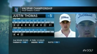 Expectations for JT in second round of Valspar