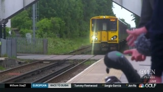 Ginella travels by train to play golf in Lancashire, England