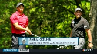 Mickelson pushed by Woods to win