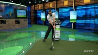 GOLFTEC Tips: Fix hip sway, end the slice using your golf bag