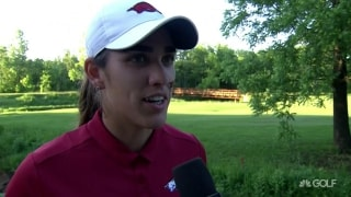 Fassi excited to get a point for Arkansas in NCAA quarterfinals