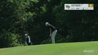 How about that! Wake Forest's Detmer holes out for eagle