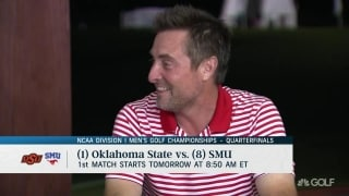 Coach Enloe previews SMU vs OSU quarterfinal match ups