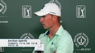 Spieth (70) not at an 'A level' yet but close