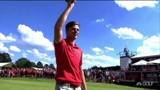 Migliozzi putts for par to win Belgian Knockout