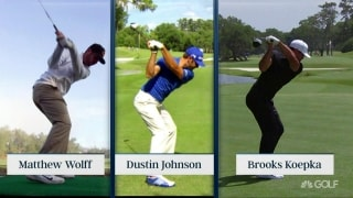 Wolff's swing: Unique but similar to DJ, Koepka