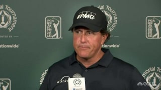 Mickelson: 'Rain is the governor' at the U.S. Open