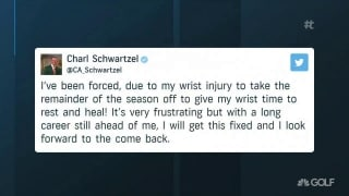 Schwartzel out for the season with wrist injury