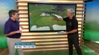 Play to the center of the green: Pebble Beach 18th hole tips