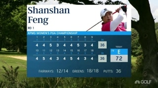 Never seen that: Feng fires historic 72 at Women's PGA