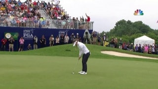 Hanging tough: Green drains clutch putt to win Women's PGA