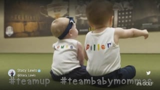 Piller's, Lewis' toddlers reveal Solheim Cup 'Team Baby Mommas'