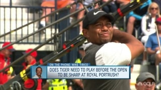 Tirico: Tiger taking a 'prudent' approach to Open prep